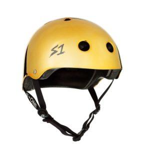 S one Mirror gold lifer helmet