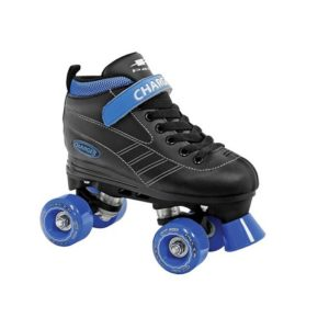 charger black/blue skates with proper trucks  jr10 - jr4