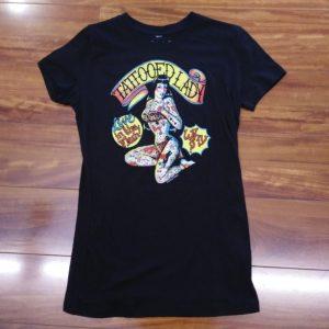Sour Puss Tattood Lady Ladies T Shirts