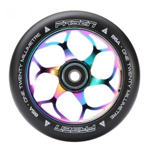 Fasen 120mm alloy core scooter wheels