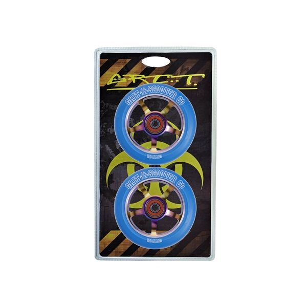 Grit neo chrome centre wheels 100 mm