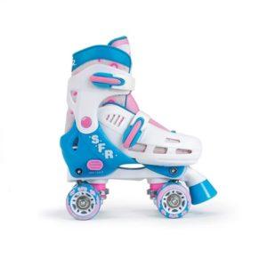 SFR STORM III teal /pink quad roller skates (size adjustable)