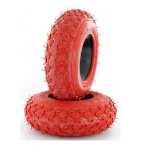 Dirt scooter tyres red
