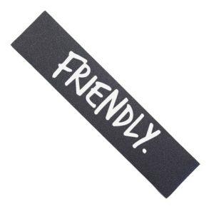 Friendly white logo Grip tape