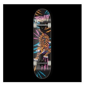 Trinity Tiger neon print skateboard