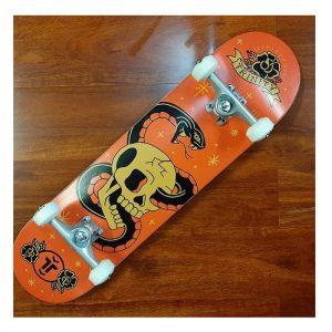 Trinity Demise Orange print skateboard